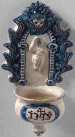 ETNO 1142 Pia de água benta em faiança, séc. XVIII
