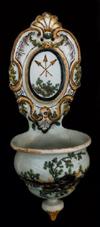 ETNO 1126 Pia de água benta em faiança, séc. XVII-XIX