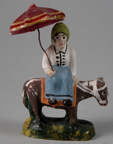 ETNO 5198 Mulher montada num burro, VIla Nova de Gaia, séc. XIX-XX