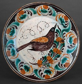 ETNO 6981 Prato em faiança pintado, autor desconhecido
